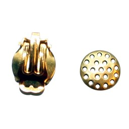 Cuenta DQ Strain ear clip 12mm gold color 20 pieces