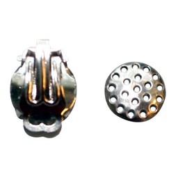 Cuenta DQ Sieve 12mm silver ear clip
