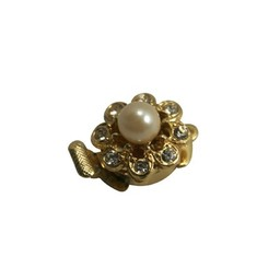 Cuenta DQ closing one eye rhinestone with pearl gold