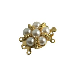 Cuenta DQ closure 3 eyes with golden pearls