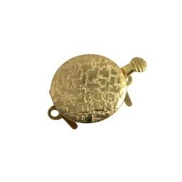 Cuenta DQ sluiting bewerkt 1 oogjes 14mm goudkleurig