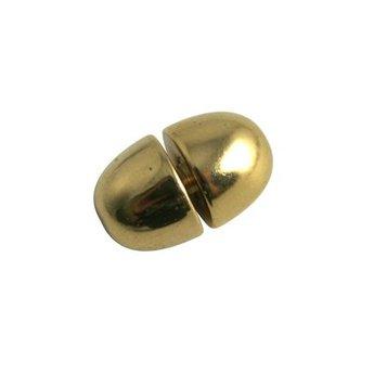 Cuenta DQ sluiting draai slotje 10mm kunststof goudkleurig