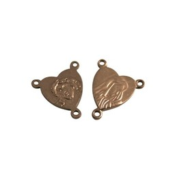 Cuenta DQ splitter rosary 12mm antique copper