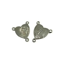 Cuenta DQ splitser rozenkrans 12mm platin zilverkleur