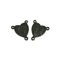 Cuenta DQ splitter rosary 12mm black