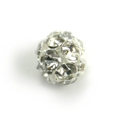 Preciosa crystals strassbol 8mm silver plated
