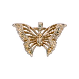 Cuenta DQ Schmetterling Anhanger 39x32mm Farbe Gold