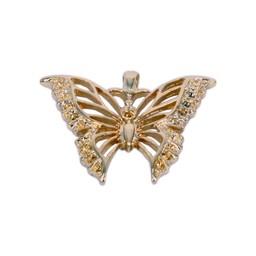 Cuenta DQ sieraden hanger vlinder 39x32mm goudkleur