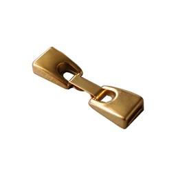 Cuenta DQ closure 2-piece 10mm hot gold per 10 pieces