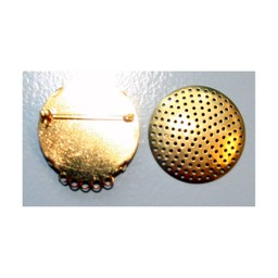 Cuenta DQ Sieve brooch 5 rings 35mm gold color 5 pcs