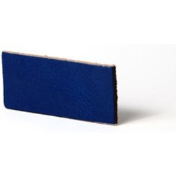 Cuenta DQ Plat leer 12mm Cobalt blauw  12mmx85cm