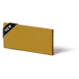 Cuenta DQ Plat leer 12mm  Oker geel 12mmx85cm
