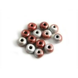 Cuenta DQ Tschechische Glasperlen rocailles Pastellfarben pink grau