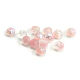 Cuenta DQ Tschechische Glasperlen Pastellfarben pink ton-sur-ton