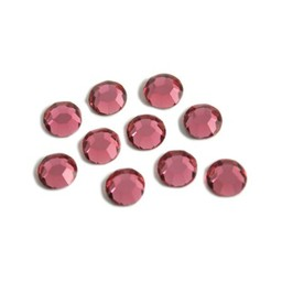 Preciosa crystals MC Flatback strass steen ss30 (6.4-6.6mm) rose