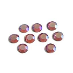 Preciosa crystals MC Flatback Rhinestone ss30 (6.4-6.6mm) rose ab