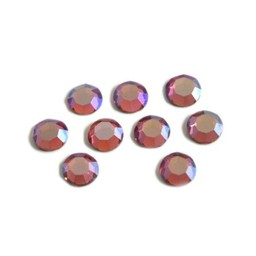 Preciosa crystals MC Flatback strass steen ss30 (6.4-6.6mm) rose ab