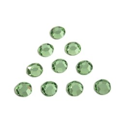 Preciosa crystals MC Flatback strass steen ss30 (6.4-6.6mm) peridot