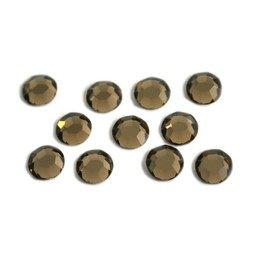 Preciosa crystals MC Flatback Rhinestone ss30 (6.4-6.6mm) smoked topaz