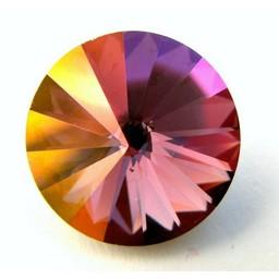 Preciosa crystals punt rivoli 18mm Volcano