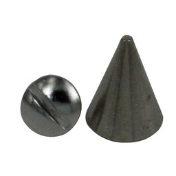 Screw spike 8x13mm silver pyramid