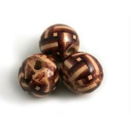 Cuenta DQ hout 18mm bol bewerkt bruin per 10 stuks