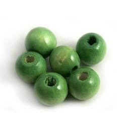 Cuenta DQ Holz 12mm grüne Kugel