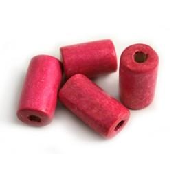 Cuenta DQ wood 20x10mm rose