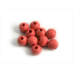 Cuenta DQ 6mm wood bead pink around