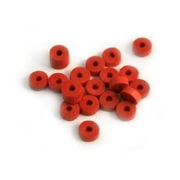 Cuenta DQ 5x2mm houten kraal schijf rood