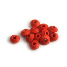 Cuenta DQ Wooden bead 6x3mm red lentils