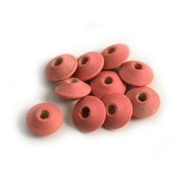 Cuenta DQ 8x4mm houten kraal linzen roze