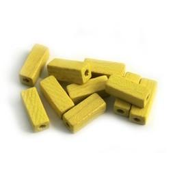 Cuenta DQ 4x4x10mm Holzperle gelb-Stick