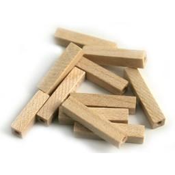 Cuenta DQ 4x4x20mm houten kraal staafje blank