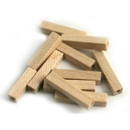Cuenta DQ 4x4x20mm wooden bead rod blank