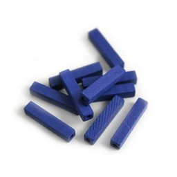 Cuenta DQ 4x4x20mm houten kraal staafje blauw
