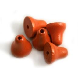 Cuenta DQ Hout klokje oranje 15mm