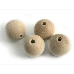 Cuenta DQ 18mm round wood bead blank