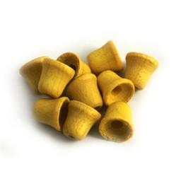 Cuenta DQ Hout 6mm mini klokje geel