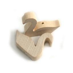 Cuenta DQ Wood white swan figure