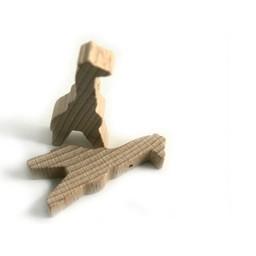 Cuenta DQ Hout figuur giraf blank