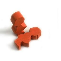 Cuenta DQ Hout figuur meisje oranje