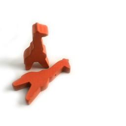 Cuenta DQ Hout figuur giraf oranje