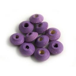 Cuenta DQ Wooden bead 10x5mm purple lentils