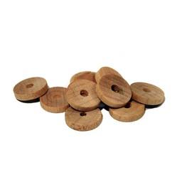 Cuenta DQ 10x2mm houten kraal schijfje blank
