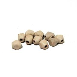 Cuenta DQ 6x5mm houten kraal facet wit