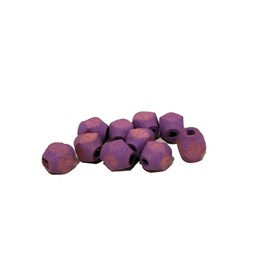 Cuenta DQ 6x5mm wooden bead faceted pastel purple