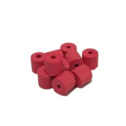 Cuenta DQ 8x8mm houten kraal ton roze