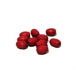 Cuenta DQ 7x10mm oval red wooden bead