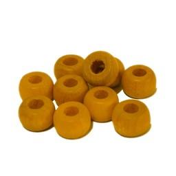 Cuenta DQ 10mm houten kraal haarkraal geel
